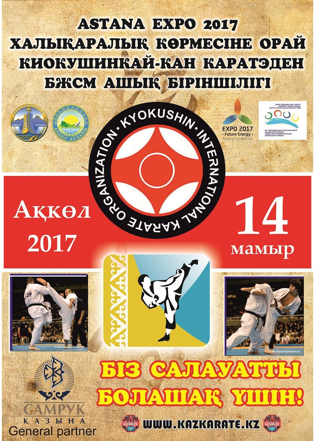 Ежегодное открытое первенство ДЮСШ по Киокушинкай-кан каратэ, посвященное международной выставке Astana EXPO-2017 среди детей, юношей и девушек