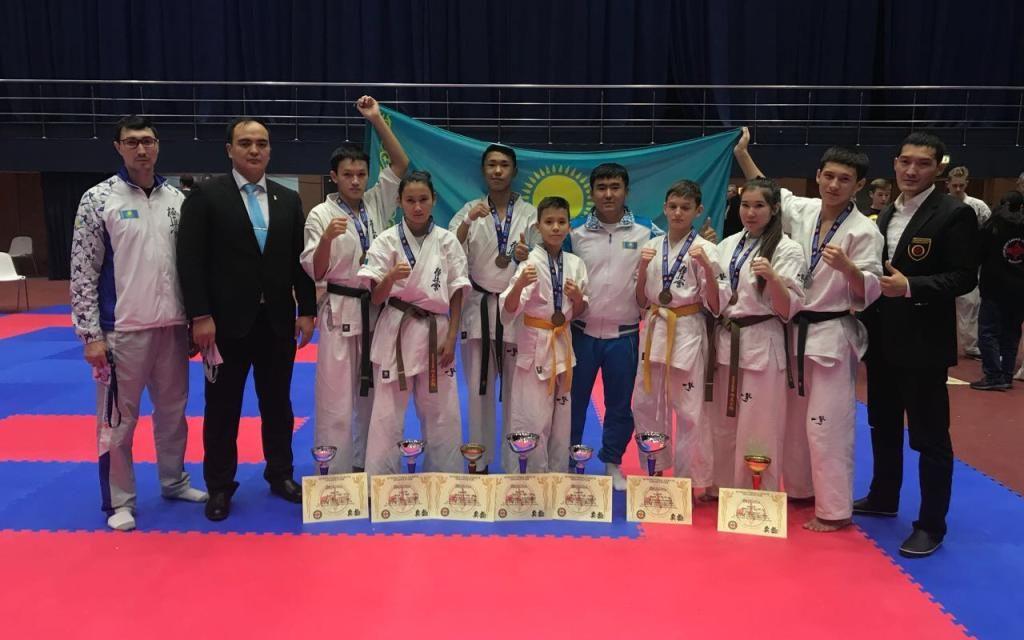 На Кубке Европы Казахстанские спортсмены по Киокушинкай-кан каратэ собрали медали всех достоинств