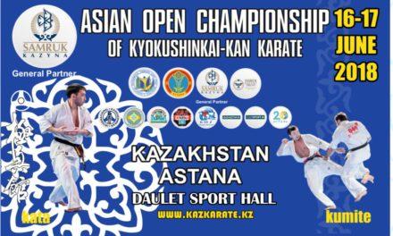 В городе Астане пройдет Открытый Чемпионат Азии по киокушинкай-кан каратэ