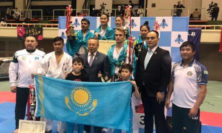 Блестящего результата добилась национальная сборная Казахстана по киокушинкай-кан каратэ в открытом чемпионате Японии