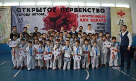 В Актобе прошел городской турнир для начинающих каратистов