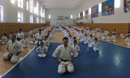 В Акмолинском филиале РНФКК состоялся тест в 2018 ударов и аттестационные экзамены на ученические пояса (кю-тест)
